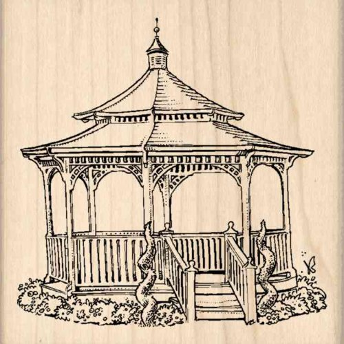 Stamps by Impression Gazebo Rubber Stamp