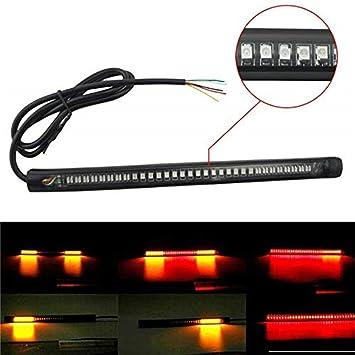 48 SMD Qiorange LED R/ücklicht Streifen 48LED Strip Licht Wasserdicht Lichtleiste Heckt/ür Tagfahrlicht R/ücklicht Blinker Bremse Umdrehungs Signal Schwanz Streifen Licht DC 12V