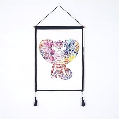YANYANGXIN L'impression numérique série animale,Peinture Décorative murale fond peinture accrocher l'éléphant,compteur électrique fort tissu de coton Décoration Tapisserie