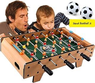 Baby-foots Football de Table 3-10 Ans Jouets éducatifs Double Divertissement Jouets Parents-Enfants Jouets interactifs (Color : Brown, Size : 48 * 29 * 15cm)