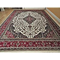 Luxury Silk Rug Ivory Rug Living Room Cream Area Rugs Traditional Medallion 5x8 Rugs Persian 5x7 Dining Room Rug