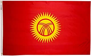 product image for Annin Flagmakers Model 973711 Kyrgyzstan Flag 3x5 ft. Nylon SolarGuard Nyl-Glo 100% Made in USA to Official United Nations Design Specifications.