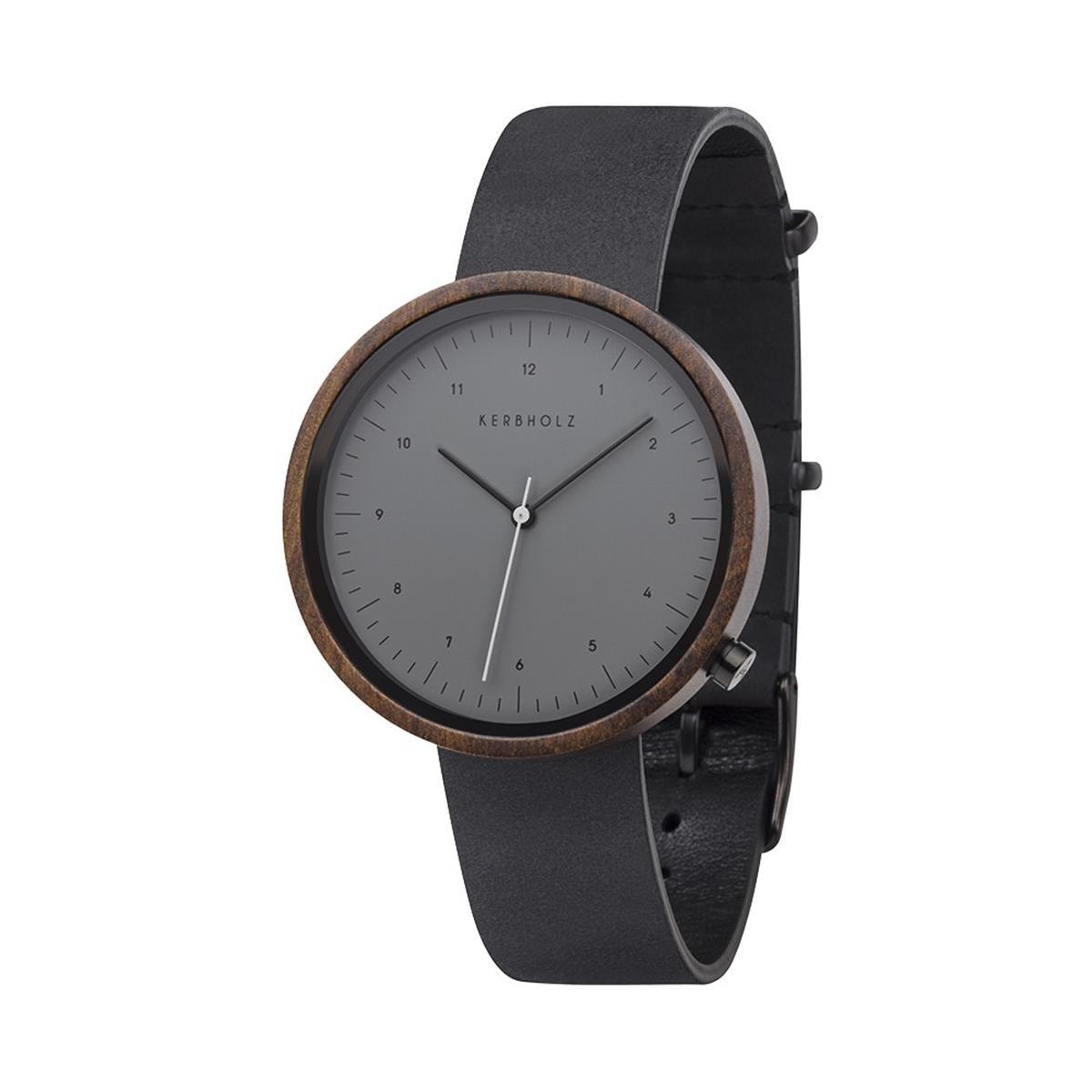Kerbholz Reloj Digital para Hombre de Cuarzo con Correa en Cuero 4251240402536