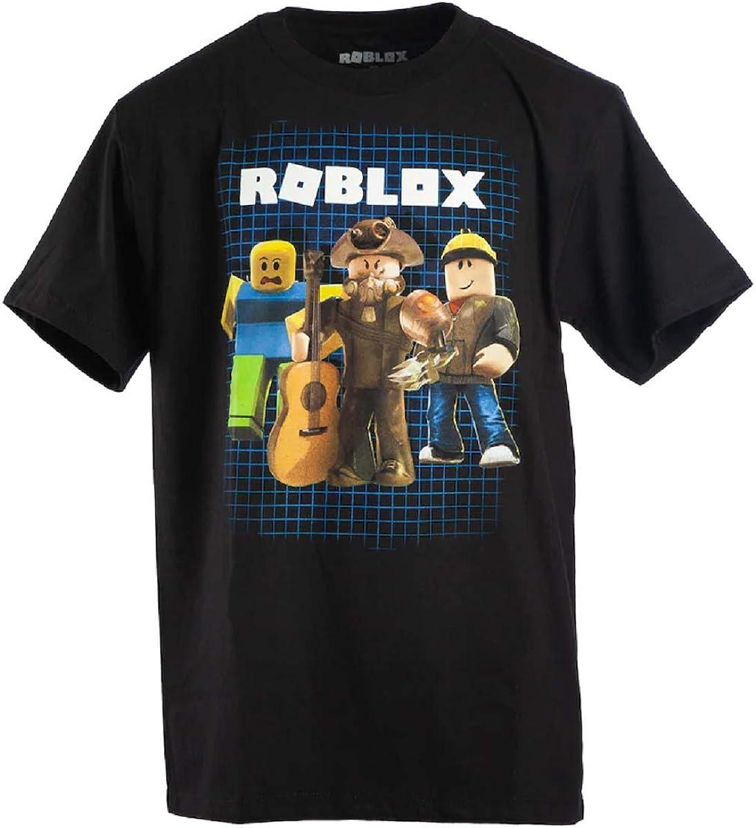 S 8 ROBLOX Boys Short Sleeve Shirt , Navy