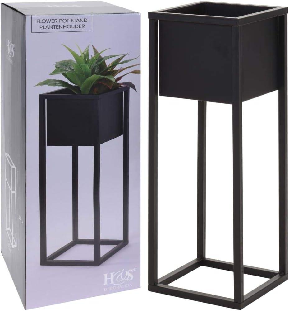 Home/&Styling Macetero Sobre Soporte de Metal Plantas y Decoraci/ón Negro