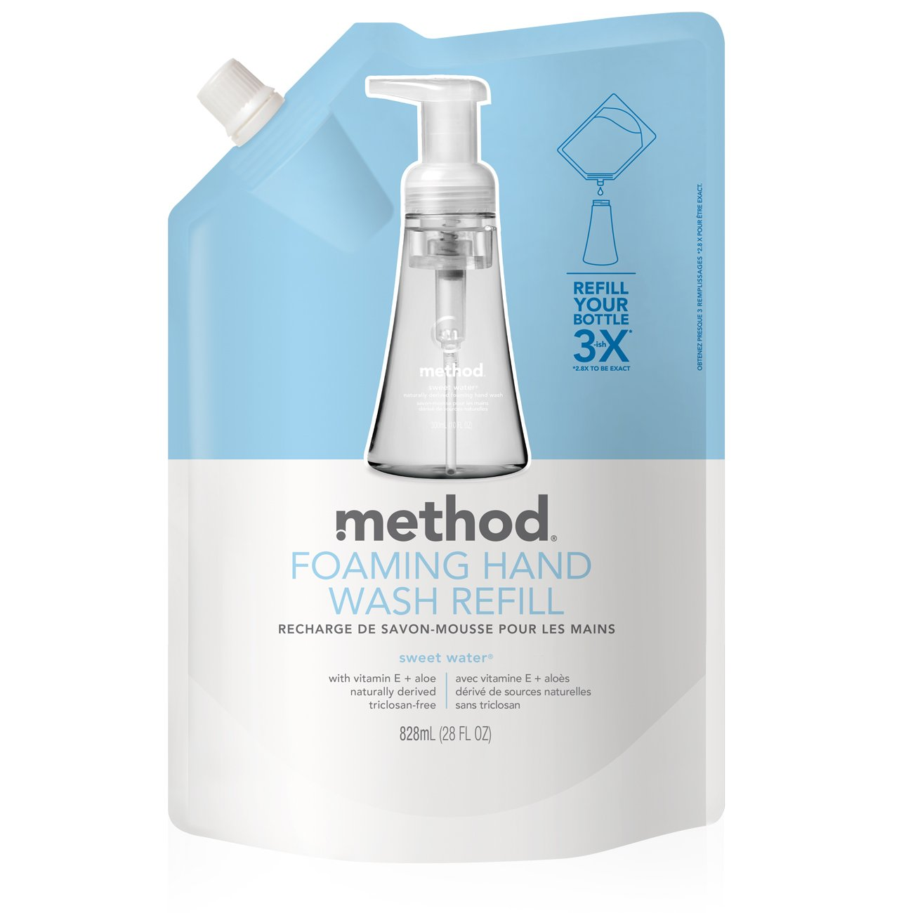 Method Foaming Hand Soap Refill, Sweet Water, 28 Ounce