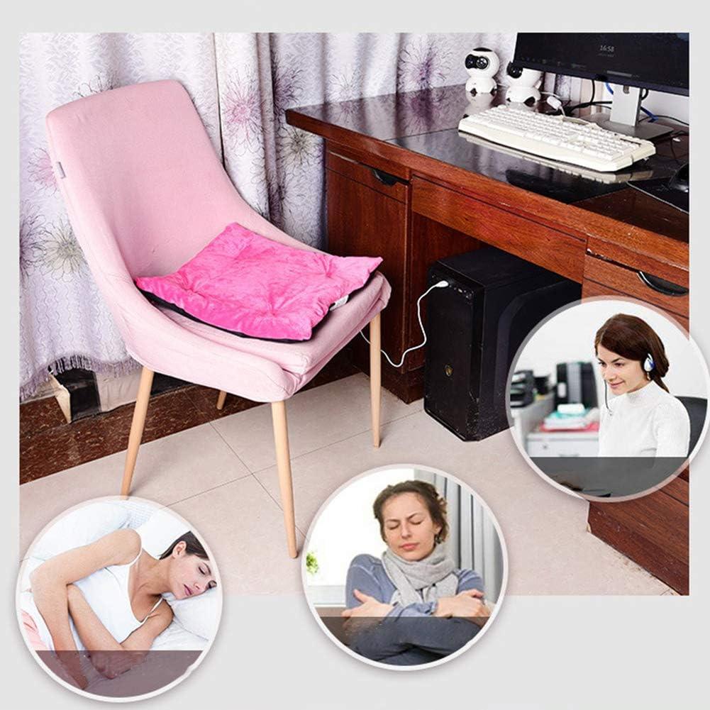XHXseller hogar coj/ín de calefacci/ón por USB para oficina conducci/ón viaje Coj/ín calefactor el/éctrico coj/ín de calefacci/ón el/éctrico