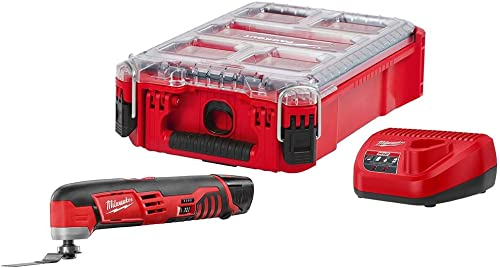 Milwaukee M12 12-Volt Lithium-Ion Cordless Oscillating Multi-Tool Kit with 1 1.5Ah Battery, Charger and Packout Case
