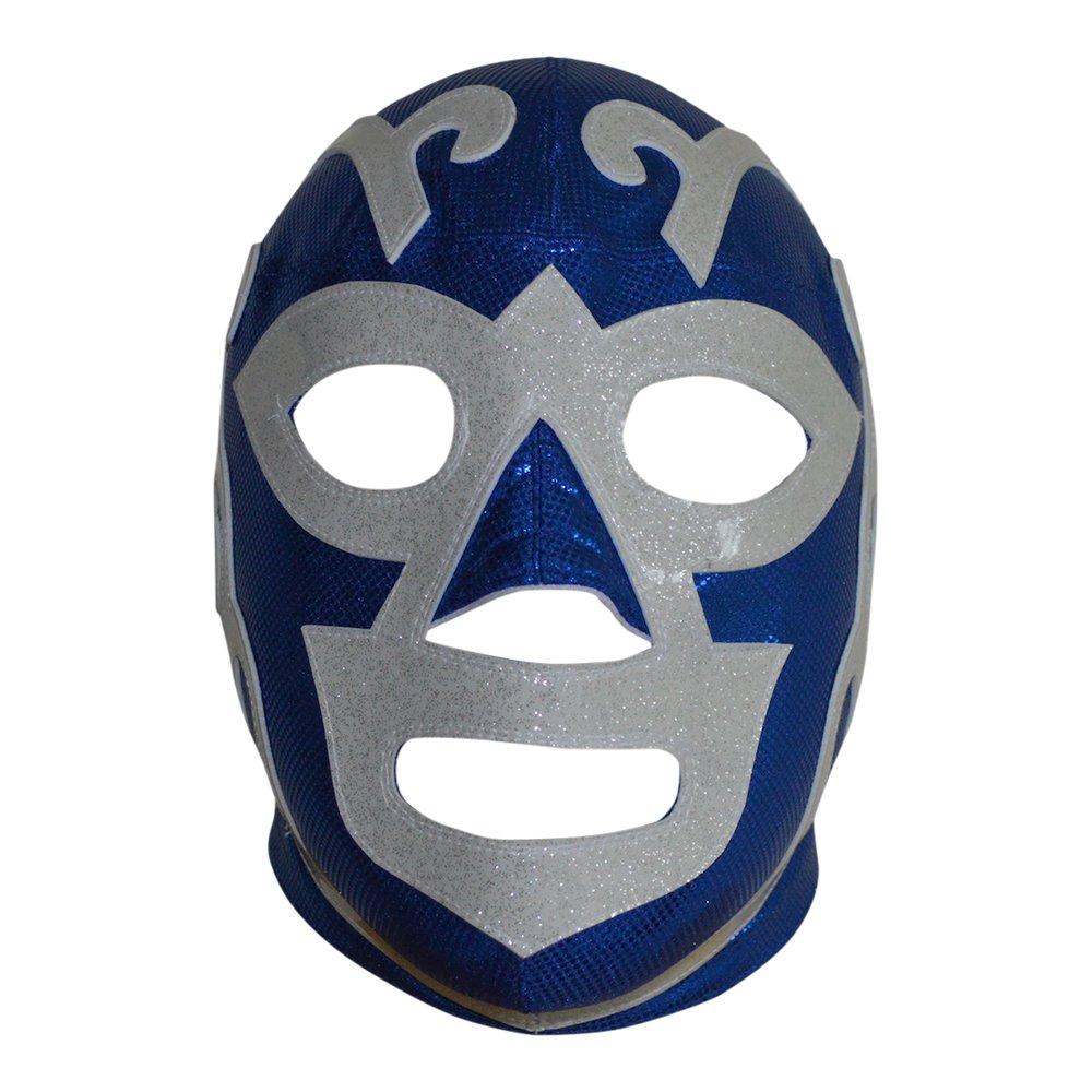 Huracán Ramirez Semi-Professional Lucha Libre Mask Adult Luchador Mask Blue