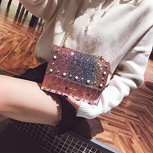 place petite femme Aoligei pompon centaines sac main chaîne Sac coréenne A à paillettes tour version sac rfWfptxU
