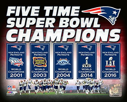 "New England Patriots 5 Time Super Bowl Champions Composite Photo (8"" x 10"")"