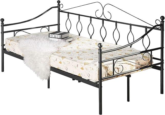 Aingoo - Sofá cama individual de metal, cama de día, cama de ...