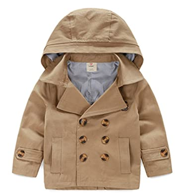 c1ff5f55058e Amazon.com  LJYH Toddler Boys  Classic Peacoat Hooded Toggle Coat ...
