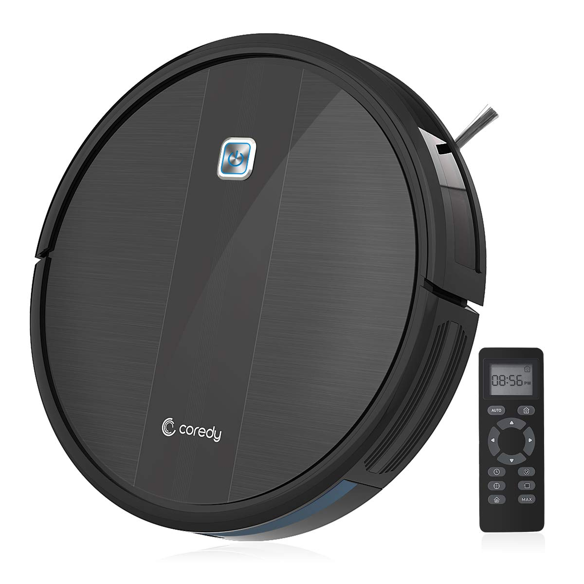 Coredy Robot Vacuum Cleaner, 1700Pa Strong Suction, Super Thin Robotic Vacuum, Multiple Cleaning Modes/Automatic Self-Charging Robot Vacuum for Pet Hair, Hard Floor to Medium-Pile Carpets by Coredy