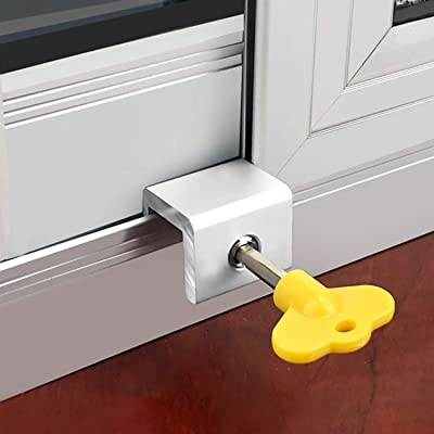 Buy 4 Sets Sliding Window Locks Security Window Lock Aluminum With Key Window Stoppers For Vertical Horizontal Slide Door Adjustable Security Locks For Child Home Bedroom Double Hung Windows Online In