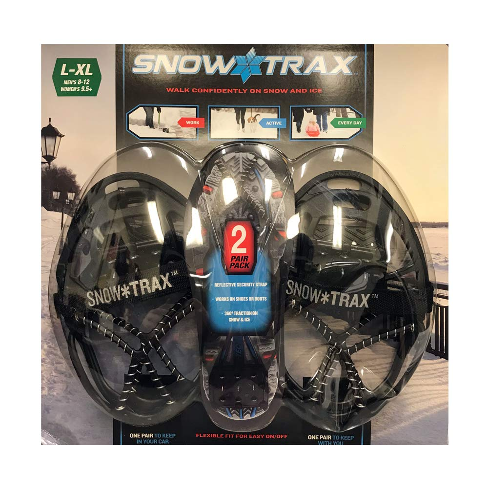 snow trax Shoe Cover Steel Coils and Spikes Size L//XL