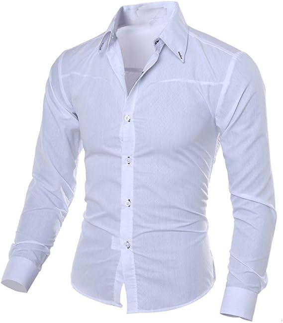 Kobay Homme Chemises Imprim/ées /à La Mode D/écontract/ées /à Manches Longues