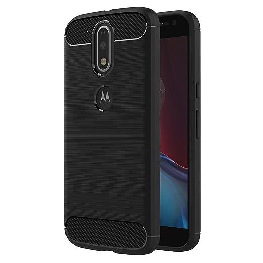18 opinioni per Cover Moto G4 / G4 Plus, AICEK Nero Custodia Motorola Moto G4 / G4 Plus Silicone