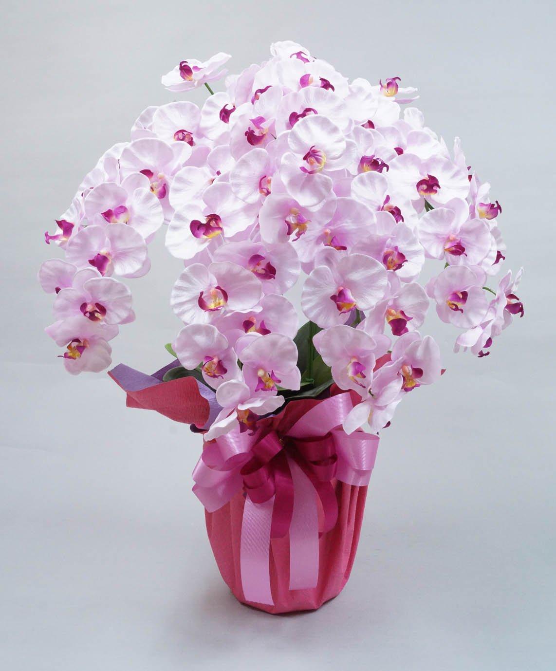 高級胡蝶蘭5本立ち(光触媒)シルクフラワー造花 (ラベンダー) B0159R6CYG  ラベンダー
