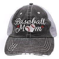 Baseball #Momlife Mom Love Heart Women Embroidered Trucker Style Cap Hat