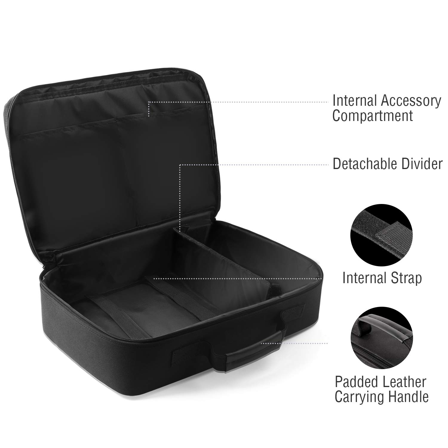 ABOX Carrying Bag fits ABOX A6 4000 Lumens LCD Full HD Multimedia Home Theater Video Projector-Dust Proof & Waterproof,Scratch-Resistant by GooBang Doo (Image #4)
