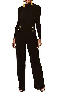 Re Tech UK Womens Halterneck Sleeveless Jumpsuit Playsuit Romper Wide Leg Dress Fashion Elegant