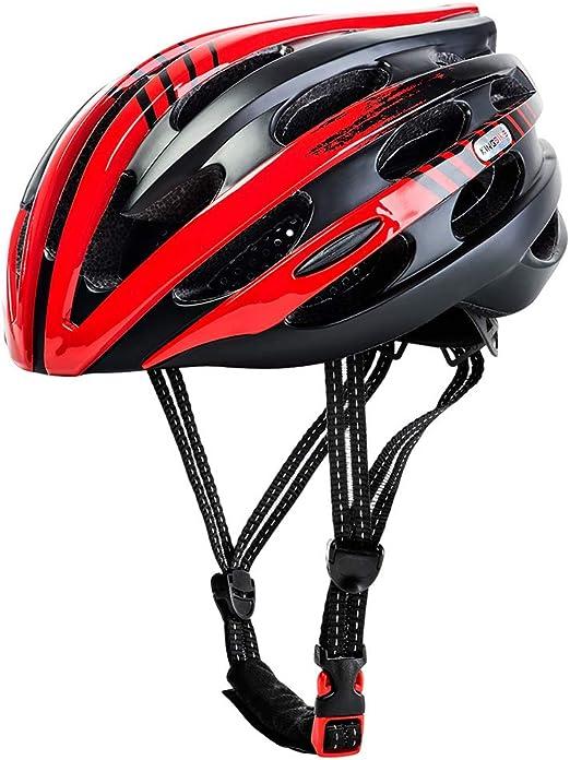 John-L Casco Bicicleta, Casco De Ciclismo Ajustable con Luz De ...