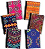 New Generation - Ethnic - Composition Book, 6 PACK, WIDE Ruled, 80 Sheets / 160 Pages, 7.5 x 9.75 Inches, UV Glossy Laminated Hard covers (6 PACK COMPOSITION NOTEBOOK WIDE RULED)