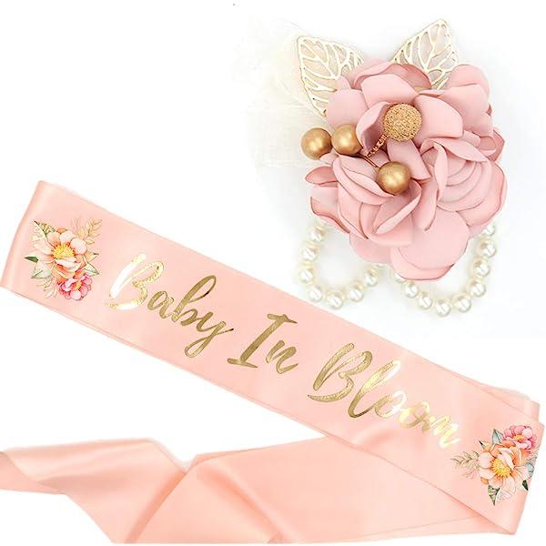 Blush Baby Girl Pregnant Sash Old Pink Belly Sash Custom Belly Sash Mauve Plum Maternity Sash Girl Flower Sash Plum Baby Shower Sash