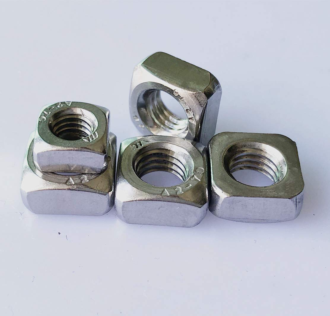 Stainless Steel Fastener 50pcs M4 Metric Square Nuts 18-8 304