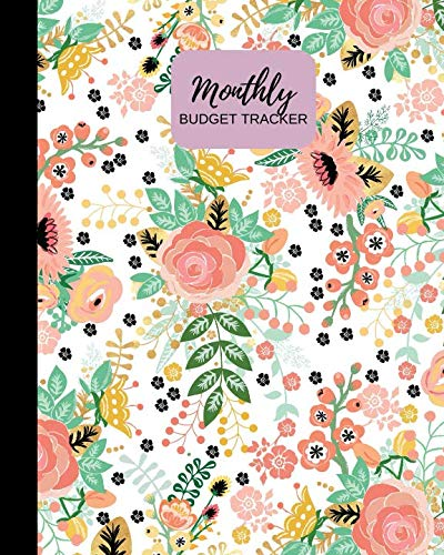 Monthly Budget Tracker: Pink Floral Personal Income & Expense Notebook Organizer | Includes Savings Goals, Fixed & Other Expenses, Monthly & Yearly Calendar Planning  8