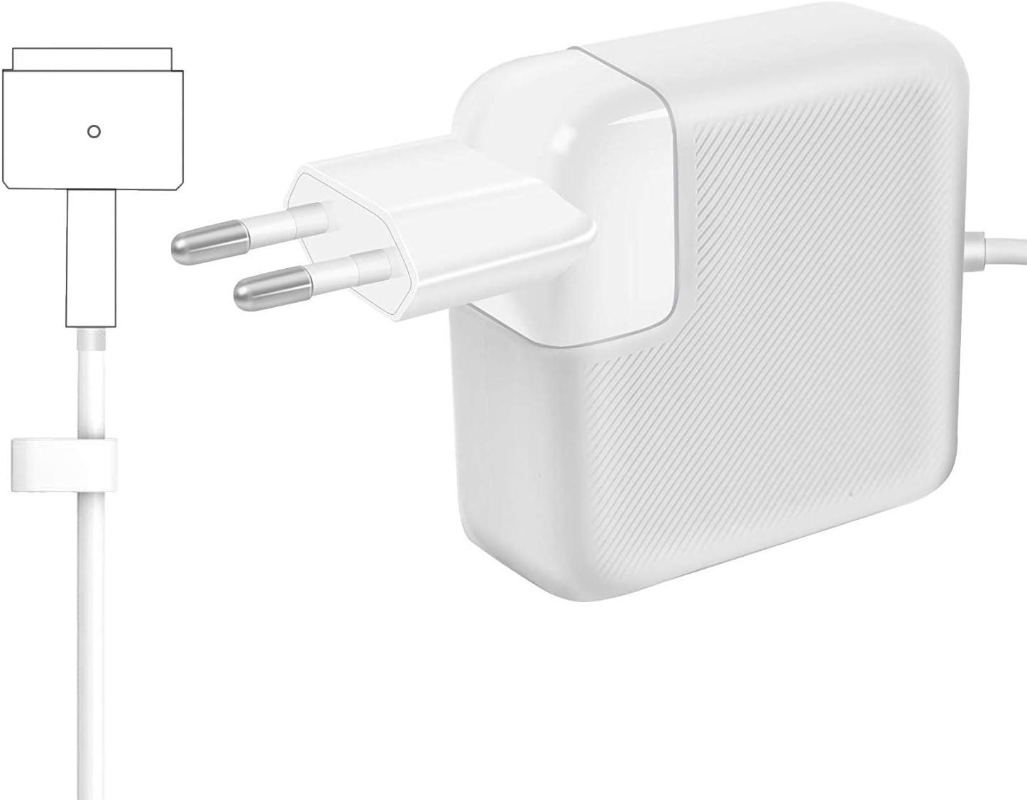 AndMore Cargador Compatible con MacBook Pro/Air 85W, Cargador MacBook, MagSafe 2 Forma de T Adaptador de Corriente Funciona con los Macbook 45W/60W/85W-13 15