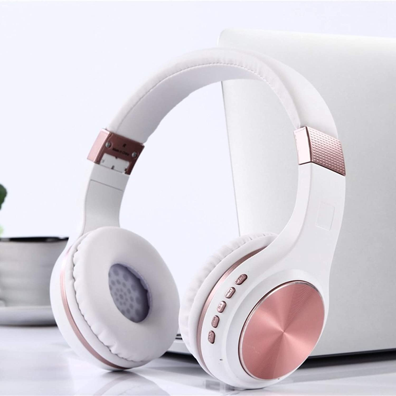 POPUPE Z3-601 Head-Mounted Card Phone Small Wireless Bluetooth Headset Stereo Headphones (Pink)