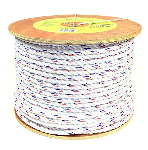 - RK SR58600 Poly-Combo 3-Strand Safety Rope, 5/8 in x 600 ft