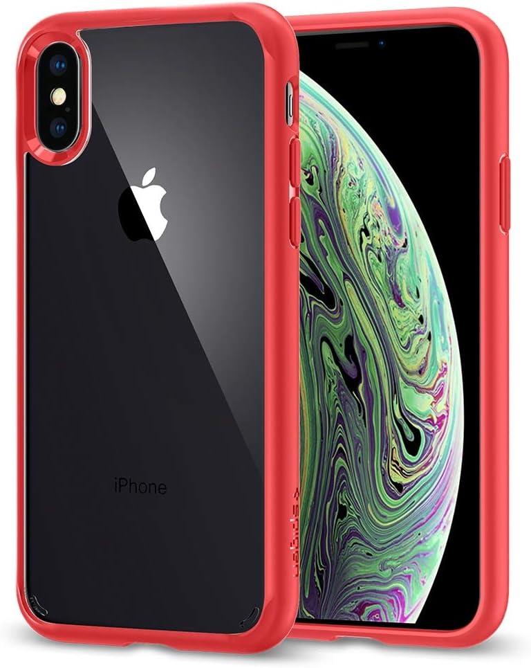 Spigen Ultra Hybrid Designed for Apple iPhone Xs (2018) / Designed for Apple iPhone X (2017) - Red