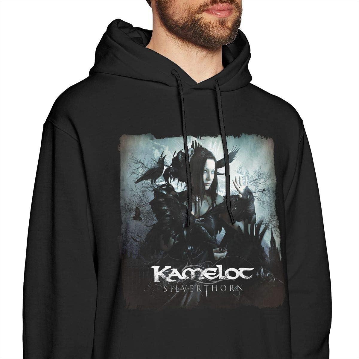 COURTNEY FRANCIS Kamelot Funny Mens Long Sleeve Sweatshirts Mens Hoodies Black