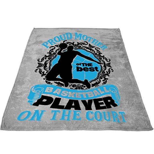 Amazon.com: COLUSTORE Player Blankets - Perfect Layering Any Bed - Provides Comfort Warmth Years, Proud Mother A Basketball Player Fleece Luxury Blanket ...