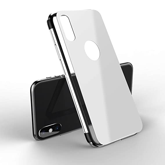 best service d9d16 53f86 iPhone X case, MOBY Stainless Steel TPU Hybrid Shockproof Bumper ...