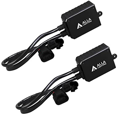 Alla Lighting 9008 H13 LED Decoders Plug-N-Play Anti-Flickering Fix Warning Error Code Canceler Capacitor Kit Harness for LED Headlight DRL Conversion Kits Bulbs: Automotive