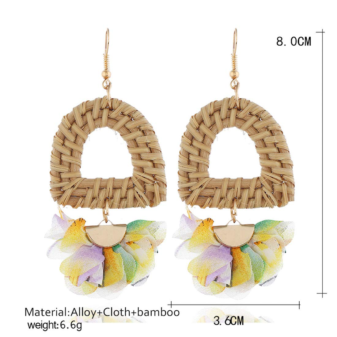 Great Gifts for Women Girls Handmade Bamboo Earrings JXVLUYE Charm Earring for Women Girls