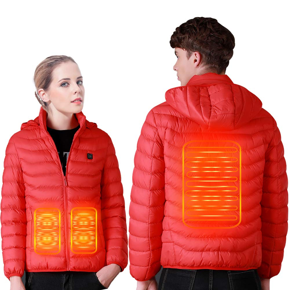 SUPTEMPO Women's Men's Heated Jacket Electric Heating Jacket Winter Warm Jackets for Women and Man