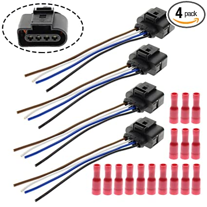 Cool Amazon Com Motoall Ignition Coil Connector Plug Wire Harness Wiring Digital Resources Antuskbiperorg