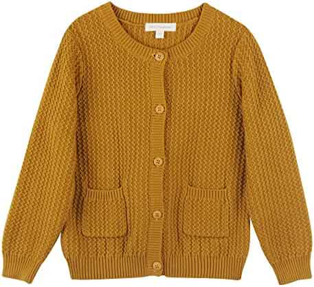 Mini Phoebee Girls  Long Sleeve Crew Neck Twisted Texture Knit Cardigan  Sweater 6a60e62ae