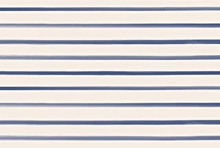 product image for Hester and Cook Disposable Paper Placemats for Dining Table - Navy Striped Square Place Mats for Parties - 24 Sheets Per Pad American Made