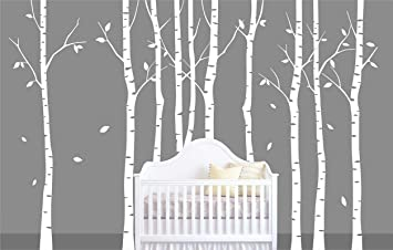 Decalshut Large White Birch Tree Wall Stickers For Nursery Wall Decal  Stickers Living Room Decor