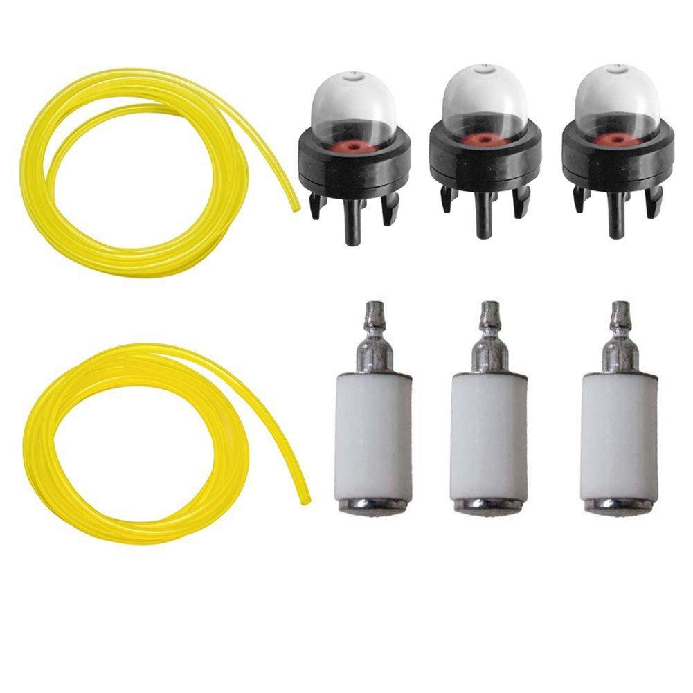 OxoxO Filtros de combustible Bombillas de imprimación y líneas de combustible para Poulan Weedeater Craftsman Stihl Echo String Trimmer Chainsaw ...
