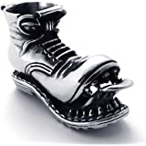 MFYS Jewelry ファッション アクセサリー ワークブーツ ブーツ メンズ 靴 ステンレス ペンダント ネックレス (チェーン付) カラー:シルバー(銀)【専用ジュエリーBOX付】