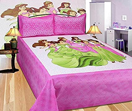 Gemsandcraft King Size Double Bed Sheets Rajasthani Flower Bed Sheets  Double Bed Covers Hand Print 100