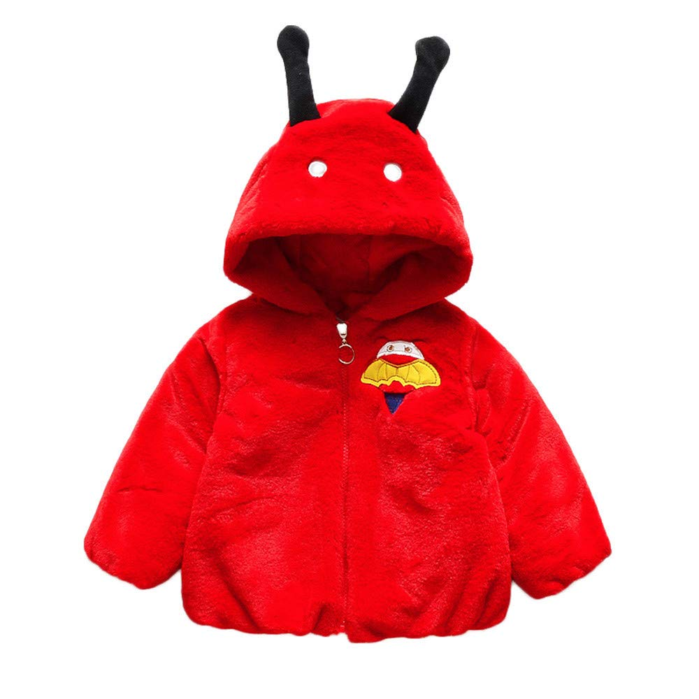 scaling Lightweight Windproof Jacket /♥/♥Toddler Baby Boy Girl Cartoon Long Sleeve Hoodie Winter Warm Clothes Coat