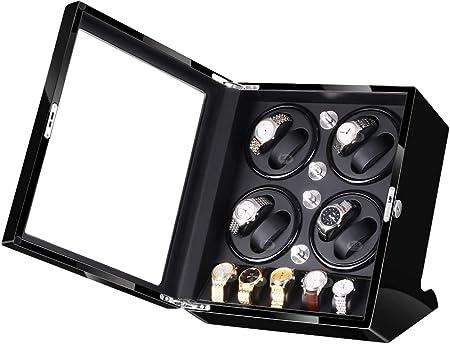 jianbo Reloj Automatico De Hombre Marca 8+5, Rolex Caja Relojes Estuche Automaticos, Japones Soporte Piano Electrico, Pinturas Acrilicas, Cargador Pilas,Black+Black: Amazon.es: Hogar